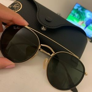 Ray-Ban Rounded Double Bridge Sunglasses